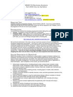 MGS3100 Business Analysis Fall 2009 Course Syllabus Instructor