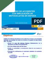Estudio de accidentes con implicacion de motocicletas en España