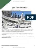 EE.uu Quiere Bombardear Siria Tranquilamente