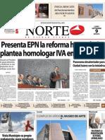 Periódico Norte edición impresa día 9 de septiembre
