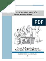 MANUAL Capacitación  Autoridades Mesas Electorales