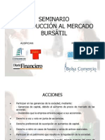 SEMINARIO MERCADO BURSÁTIL