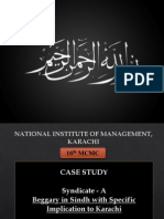 Case Study Beggary in Karachi