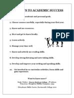 Academic Success Steps