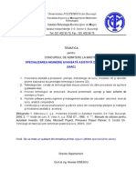 2010 Tematica Admitere Master IAAC