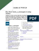 Trabalho de WEB 2