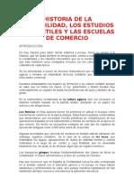 Historia de La ad Los Estudios Mercantiles y Las Escuelas de Comercio