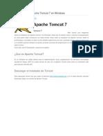 Instalacion de Apache Tomcat 7 En