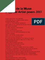 People de la Muse a typical Artist poem 2013
