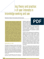 Brenda Dervin - Sense-Making Theory and Practice - An Overview of User Interests in Knowledge Seeking and Use