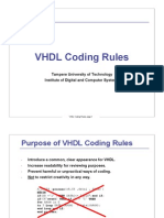 VHDL Coding Rules