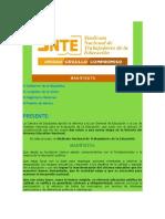 Manifiesto Del Snte Ante La Reforma Educativa