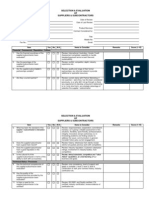 Supplier Selection & Evaluation Template