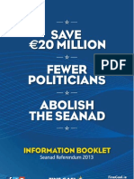 Fine Gael Abolish the Seanad booklet