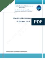 Planificación Académica III Período 2013 (FINAL)