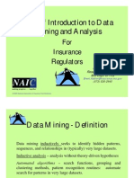 A Brief Introduction to Data Mining and Analysis for Insurance Regulators