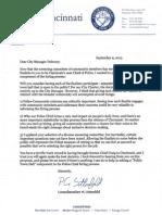 Sittenfeld's letter to Dohoney