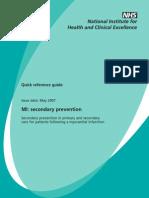 Nice guideline..MI Secodary  Prevention