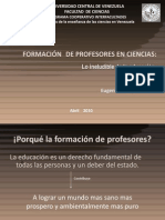 FORMACIÓN  DE PROFESORES