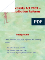 2Electricity Act 2003 – Distribution Reforms1