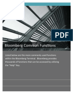 Bloomberg Common Functions