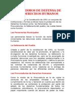 Mecanismos de Proteccion de Los Derechos Humanos en Colombia