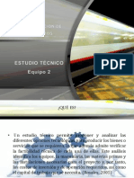 ADMINISTRACIÓN DE PROYECTOS, ESTUDIO TECNICO