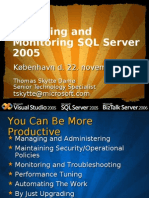 Managing and Monitoring SQL Server 2005