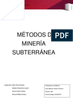 Informe Metodos de Explotacion Seccion 464