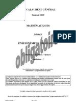 Maths obligatoire série S Métropole