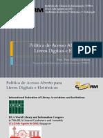 Política de Acesso Aberto para Livros Digitais e Eletrônicos