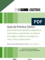 Guía para la detección oportuna, diagnóstico, tratamiento y seguimiento de linfoma de hodgkin y linfoma no hodgkin en niños, niñas y adolescentes