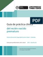 Guía de práctica clínica del Recién Nacido Prematuro