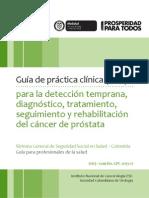 Guía para la detección temprana, diagnóstico, tratamiento, seguimiento y rehabilitación del cáncer de próstata
