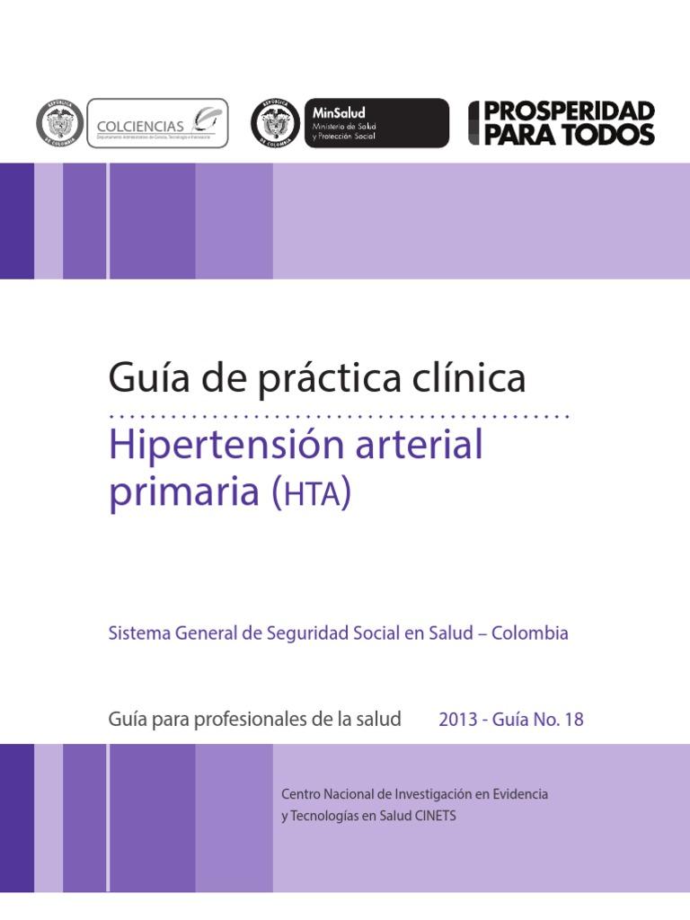 Guía de práctica Clínica Hipertensión arterial primaria..