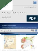 Goldman Sachs - The Syrian Quagmire Implications of a U.S. Attack
