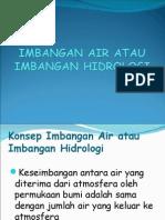 IMBANGAN AIR/ HIDROLOGI
