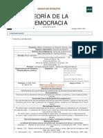 GUIA DOCENTE Teoria de La Democracia