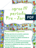 Logros IV periodo pre jardín