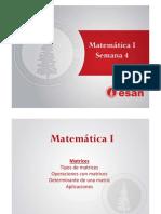 Matrices y sus propiedades