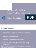 Microsoft® Office - Excel - Formulaes