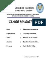Caratula Clase Magistral