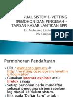 Manual Sistem E-Vetting (Pemohon Dan Pengesah