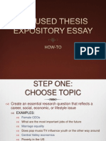 focused thesis expository essay