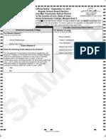 Marion School Board Election Sample Ballots