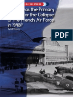 What Was the Primary Reason for the Collapse of the French Air Force in 1940 e