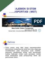 Manajemen Sistem Transportasi (MST)