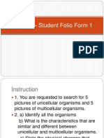 Science – Student Folio Form 1