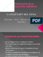 El Tema de Investigacion - 2