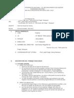 Informe Anual de Tutoria 2012- 2